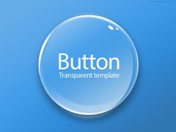 Round transparent button (PSD)
