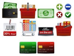 shopping theme icon