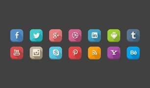 Long Shadow Social Icons