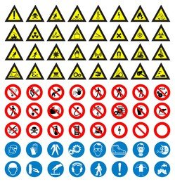 Road Sign Vector Set