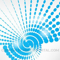 BLUE DOTS GLOSSY VECTOR DESIGN.eps