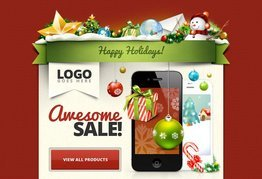 Christmas Email Free PSD Template