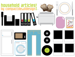 Free Vector Illustrations of Household Items