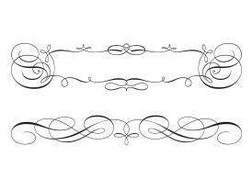 Free Swirly Scroll Frame and Border Vectors