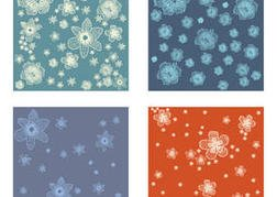Polynesian Flower Vector Backgrounds