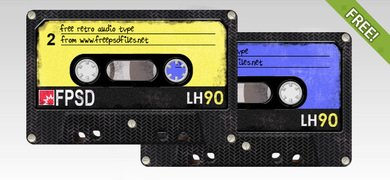 Free PSD Retro Audio Tape