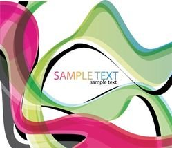 Abstract Color Waves Background