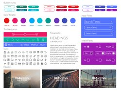 Free Coloristic UI Kit for Sketch PSD files, vectors