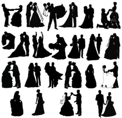 Newly Married Couple Silhouettes Free