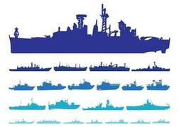 Ship Silhouettes Set