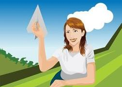 Girl With Paper Plane