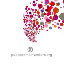 RED BUBBLES VECTOR GRAPHICS.eps
