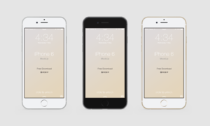 Realistic iPhone 6   mock-up