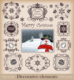 Christmas Pattern Border Vector Clip Art Christmas