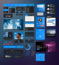 Bussolini.com Retina UI Kit • Free Download