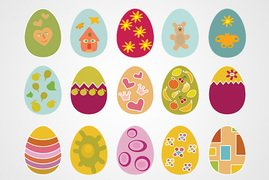 Easter Eggs Vector Set #2 (Free)