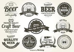 Retro Style Beer Labels
