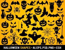 Vector Halloween Photoshop Shapes