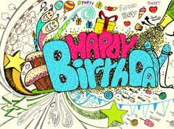 Kids Birthday Party Artistic Poster Design