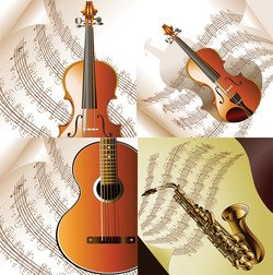 Read music and musical instruments
