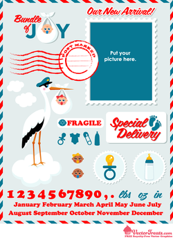 Special Delivery! Free Baby Vector Graphics Have Arrived