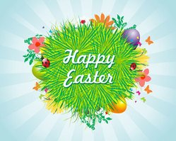 Happy Easter Grass