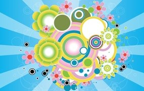 COLORFUL DESIGN VECTOR GRAPHIC Swirl Flower Floral