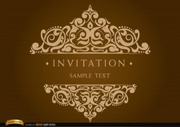 Invitation Card with Decorated Text