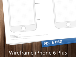 iPhone 6 wireframes ready to printed. Free PDF and PSD files.