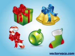 Christmas Elements Vector Free Download
