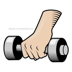 HAND WEIGHT VECTOR IMAGE.eps