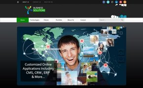 Free Premium PSD Business Webpage Template