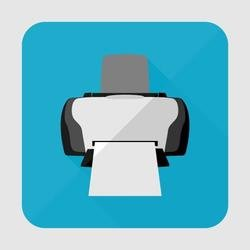 PRINTER ICON VECTOR IMAGE.eps