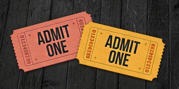 Admit-one ticket icons (PSD)