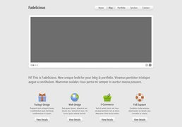 Fadelicious Free Homepage PSD Template