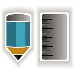 PENCIL AND RULER VECTOR ICON.eps
