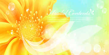 Golden flowers banners