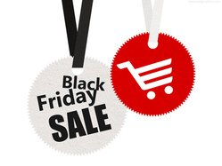 Black Friday sale tags (PSD)