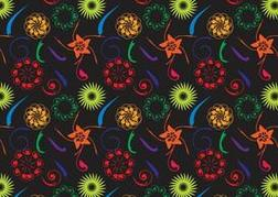 Dark Flowers Pattern