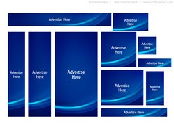 "Blue , u"""""": uAdvertise Here"" web banners pack"