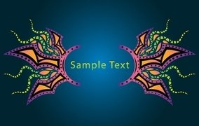 Psychedelic Banner Layout Template