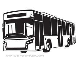 BLACK AND WHITE BUS VECTOR GRAPHICS.eps