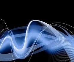 Abstract Blue Waves Background Editable