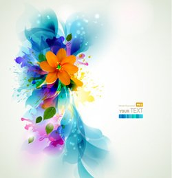 Flower pattern banner vector-15