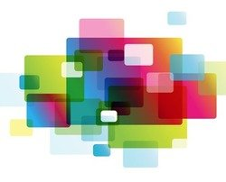 Abstract Colorful Rounded Rectangle Background