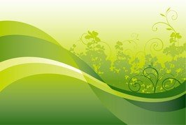 Green Floral With