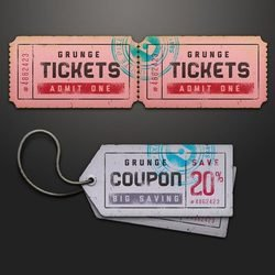 Ticket Coupon Sale Tag Psd