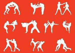 Wrestling People Silhouettes