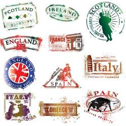 Stylish Country Stamps