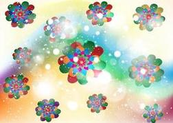 Floral Kaleidoscope Background